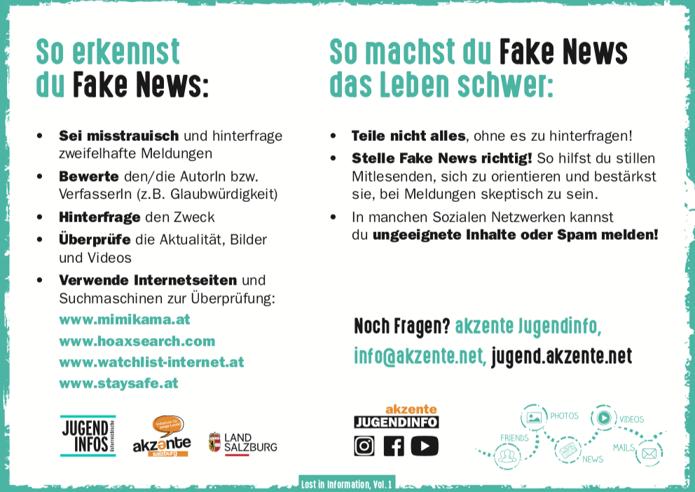 Fake News Postkarte, Lost in Information, Internetkompetenz, Medienkompetenz, social media, fake news, fake new, fake, hoax